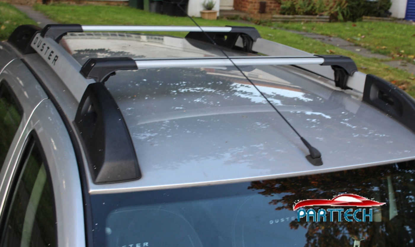 Dacia Duster 2014-2017 Antivol Alu Barre Transversale Oem Fixation 75 kg Noir